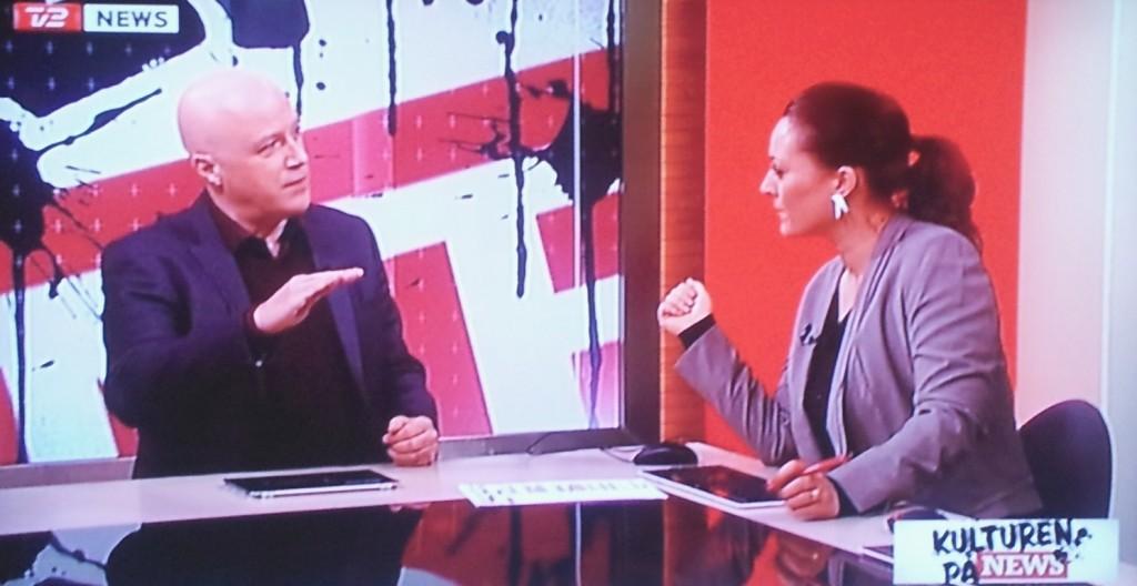 Gæst hos Stéphanie Surrugue i Kulturen på News, marts 2013