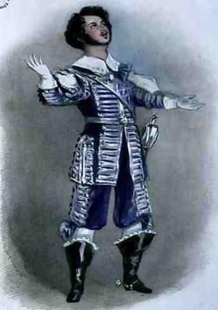 Kastraternes efterfølgere som de mest tilbedte på operascenerne er naturfrembragte stemmetyper; nu er det sopraner som Giuditta Pasta og Maria Malibran der dånes over. I 1820'erne og 1830'erne er Giovanni Battista Rubini verdens første tenorsuperstjerne i Pavarotti-klassen, og komponisten Vincenzo Bellini arbejder tæt sammen med ham – og de sørger selvfølgelig for at udnytte hans helt eminente evner i det allerhøjeste leje, hvor han (godt nok i falset) når mange toner op over det berømte høje C. Her er han portrætteret i en scene fra Rossinis Otello.