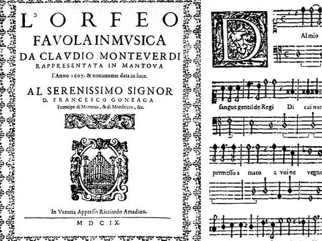 Monteverdis L'Orfeo bliver trykt og udgivet to år efter uropførelsen i 1607 Operaen er den tidligste, vi stadig har et fornuftigt nodemateriale til – masser af musik fra operaens allertidligste periode er gået tabt.