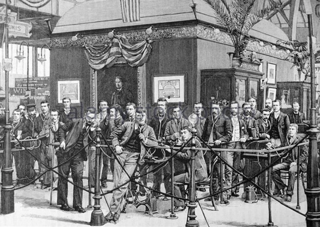 The Edison stand at the exhibition in Paris in 1889